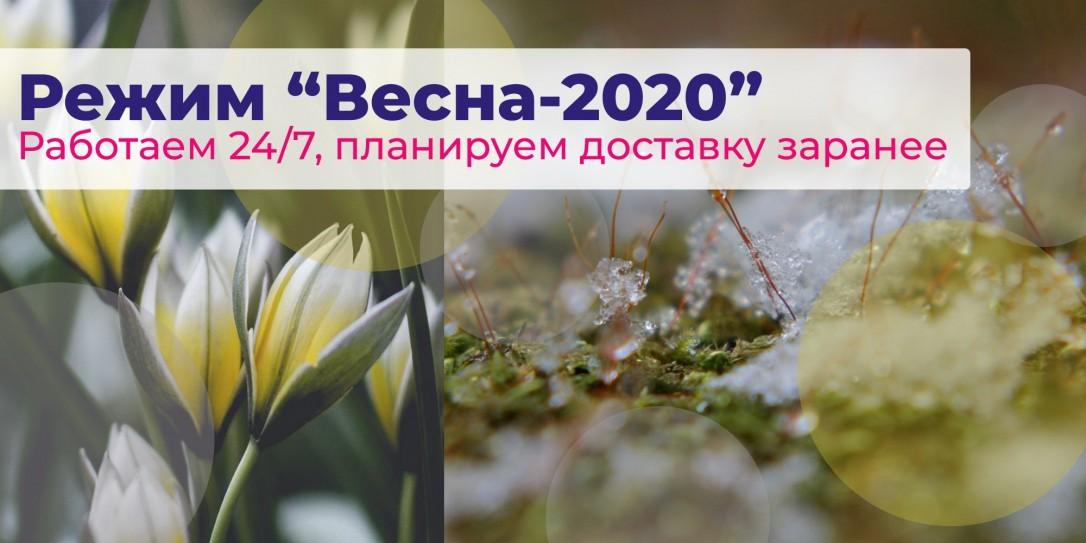 """Режим """"Весна 2020"""": работаем 24/7, планируем доставку заранее"""
