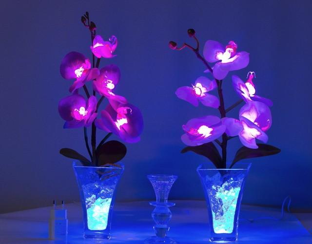 Светящиеся цветы (светодиодные светильники и ночники - тюльпаны, розы, орхидеи)
