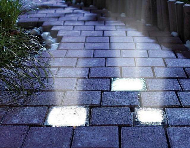 Светящаяся тротуарная плитка и брусчатка