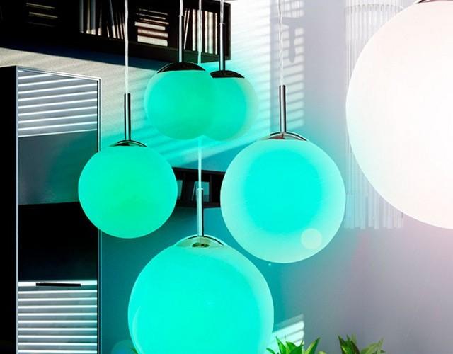 Светящиеся LED-шары: волшебный минимализм в интерьере