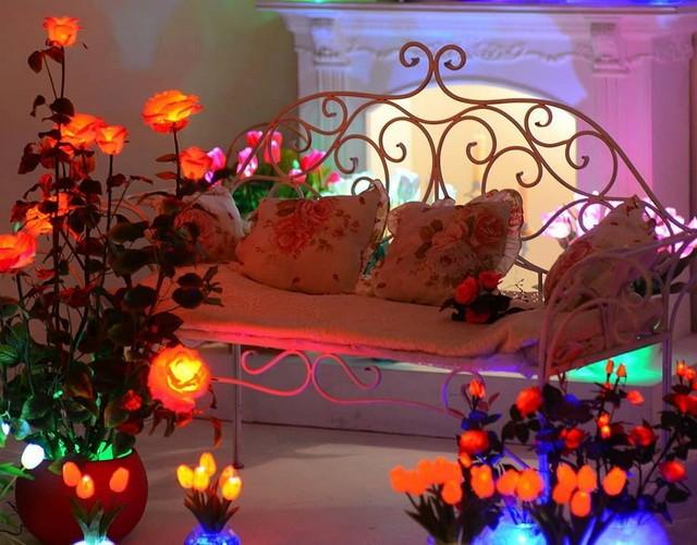 Светящиеся цветы (светодиодные светильники и ночники - подарок на свадьбу)