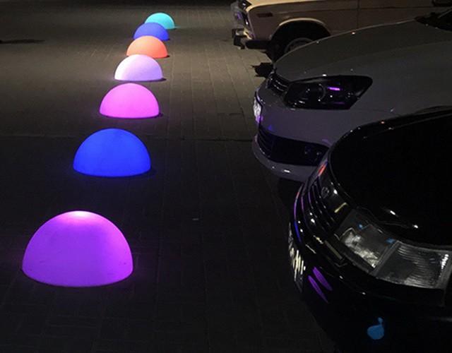 Светящиеся LED светильники-полусферы