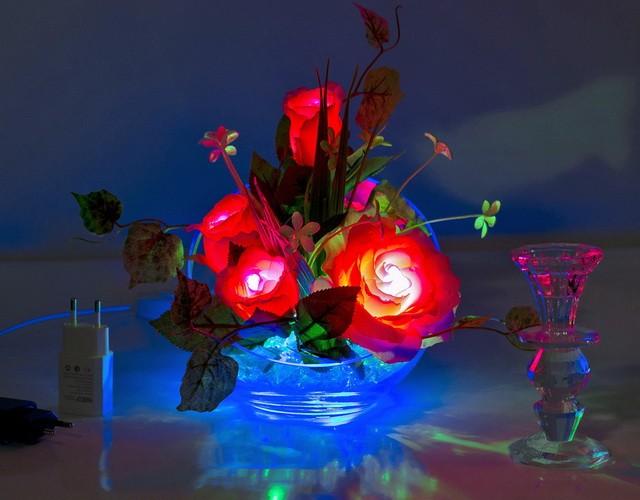 Светящиеся цветы (светодиодные светильники и ночники - украшение в спальню)