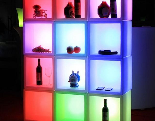 Светодиодные блоки (светящиеся LED кубы с нишей для презентаций)