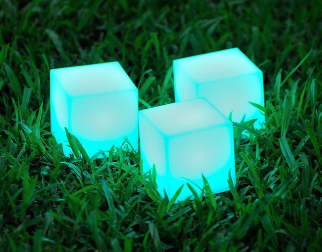Наземные уличные беспроводные светильники кубы для сада и ландшафта