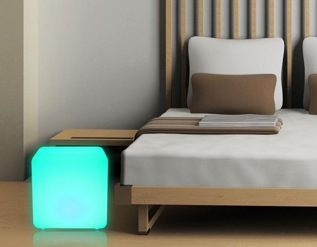 Напольный светильник - светящийся LED куб 60 см.
