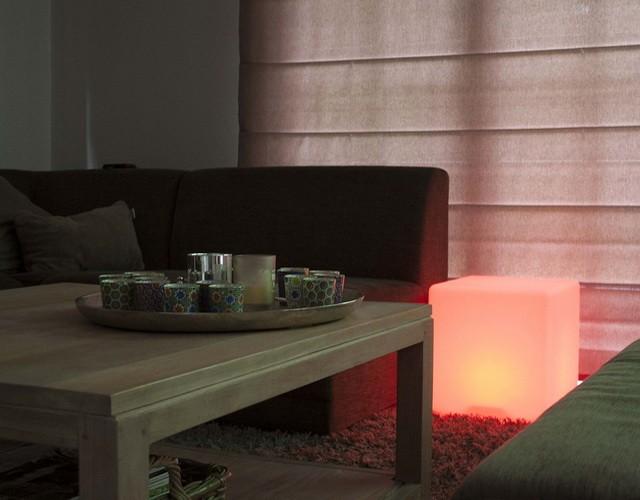 Интерьерный LED светильник - светодиодная мебель в форме куба