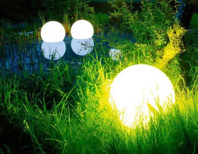 Плавающие беспроводные светящиеся LED-шары