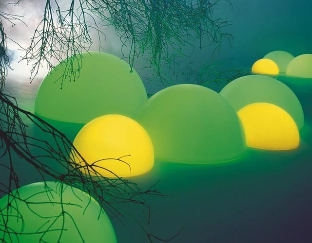 Светящиеся разноцветные беспроводные светильники полусферы