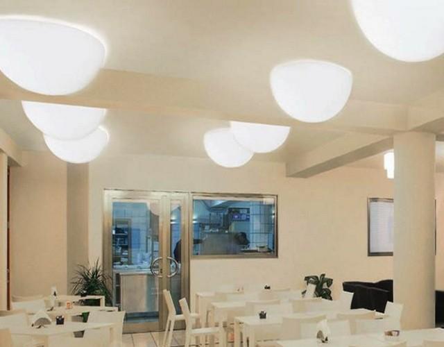 Подвесные и потолочные светильники - разноцветные LED полусферы