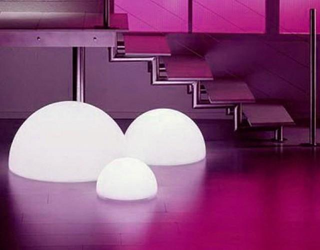Напольные LED светящиеся полусферы