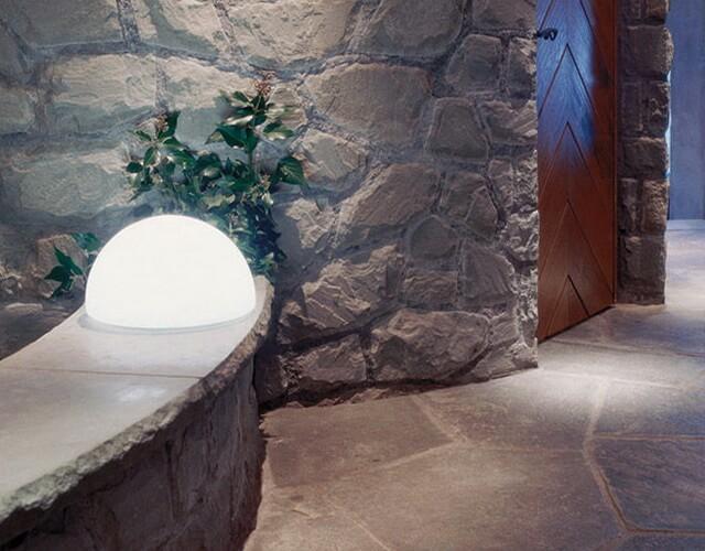 Настольная лампа - светильник полусфера для боковой подсветки
