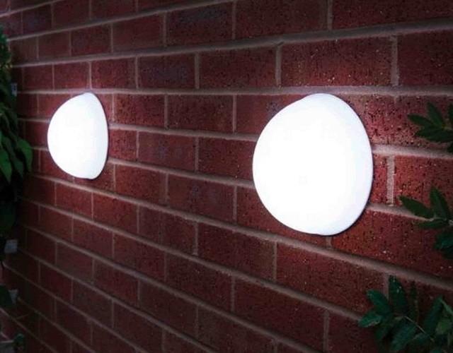 Светильники полусферы в качестве наружного настенного освещения дома