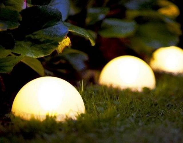 Наземные уличные светильники полусферы для сада и ландшафта
